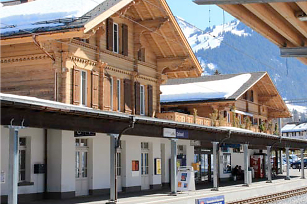 Transformation train station in Gstaad